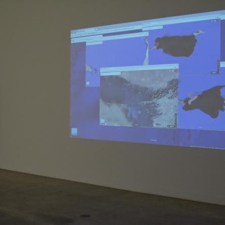 installation image of 'Grasping fragments, or otherwise calculating distance' at Visual Arts Center