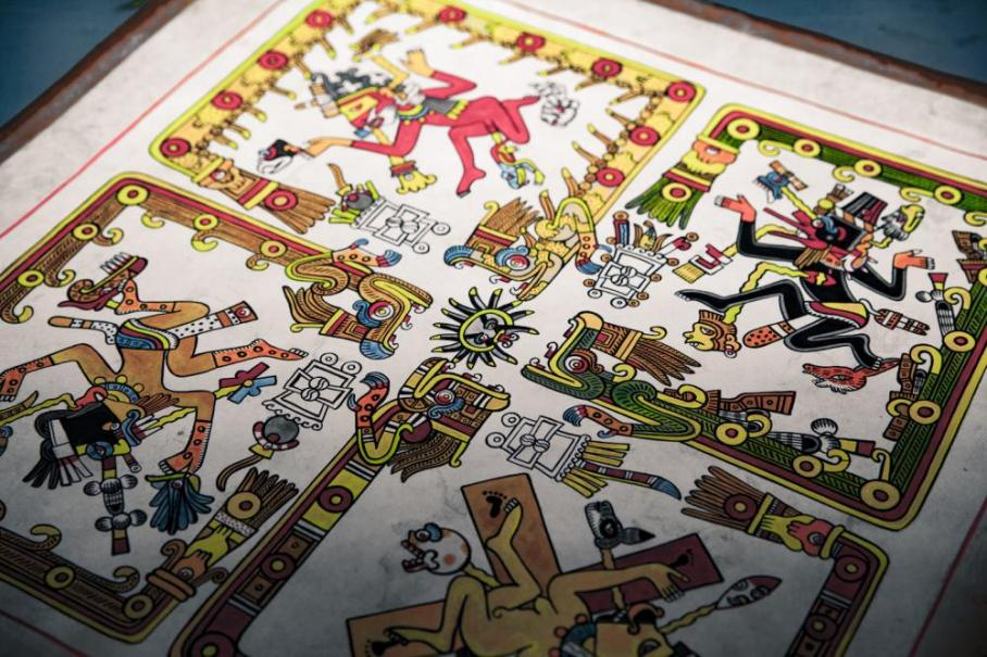detail image from The Codex Borgia