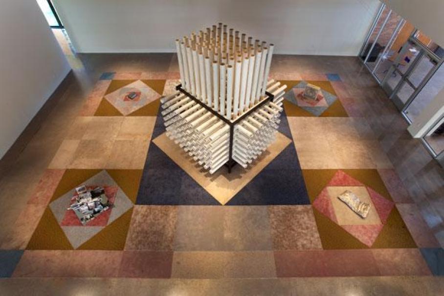 installation view of Ry Rocklen, ZZZ's, Visual Arts Center, UT Austin
