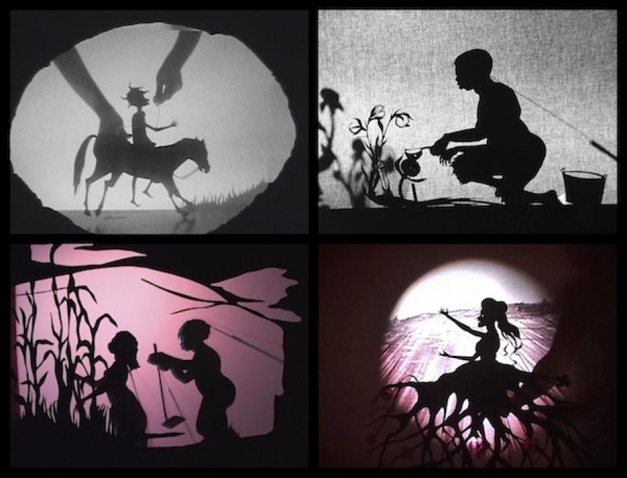 video stills of works by Kara Walker