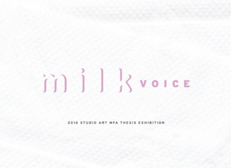 graphic for Studio Art MFA exhibition, Visual Arts Center, UT Austin