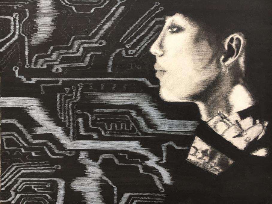 artwork by Bryana Garcia, Visual Arts Center, UT Austin