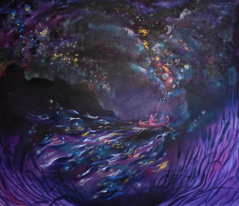 artwork by Emma Bissonnette, Visual Arts Center, UT Austin
