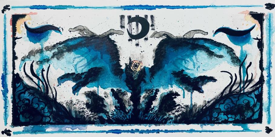artwork by Vicente San Miguel, Visual Arts Center, UT Austin