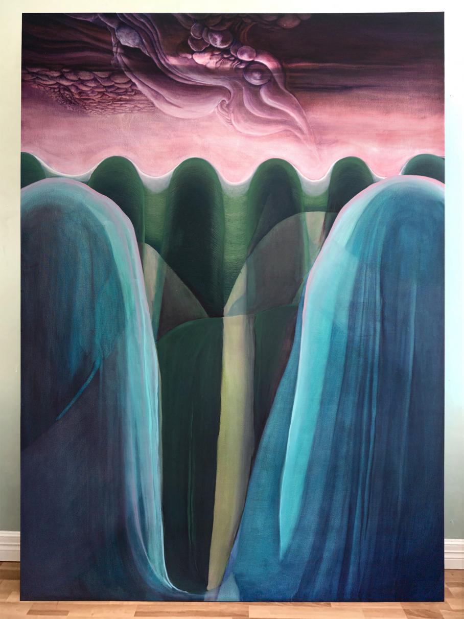 artwork by Weatherly Sawyer, Visual Arts Center, UT Austin