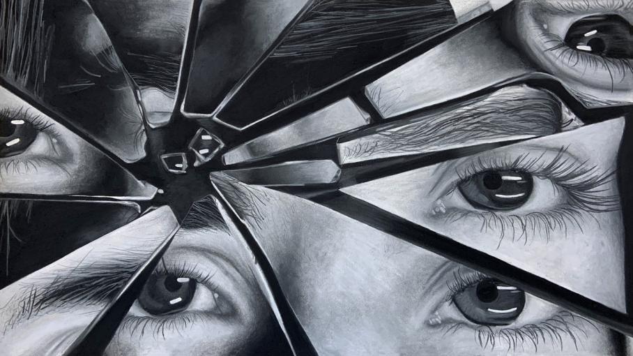 artwork by Charlotte Schembri, Visual Arts Center, UT Austin