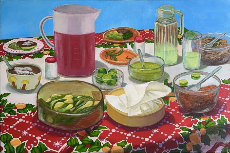 artwork by Stephenie Andrade, Visual Arts Center, UT Austin
