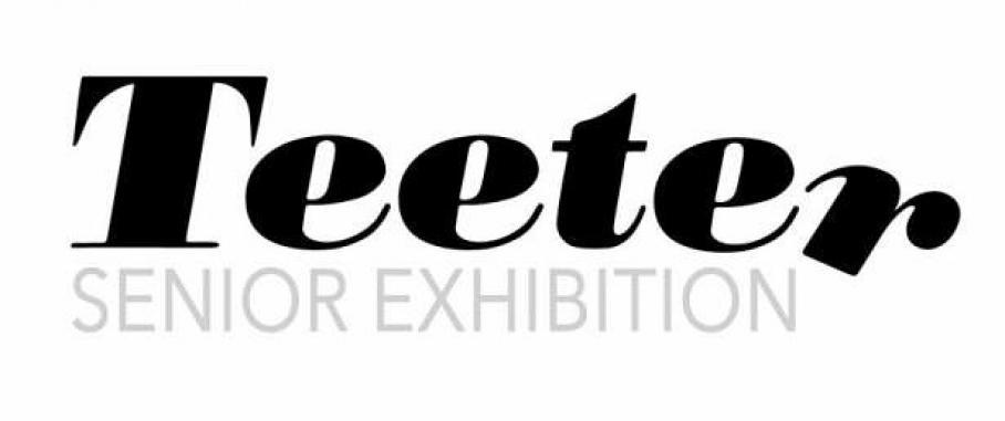 graphic for senior art exhibition, Visual Arts Center, UT Austin