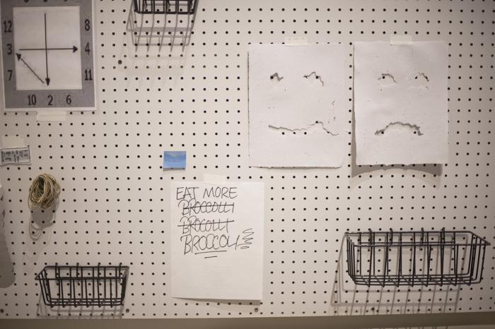 work by Amanda Ross-Ho, Visual Arts Center, UT Austin