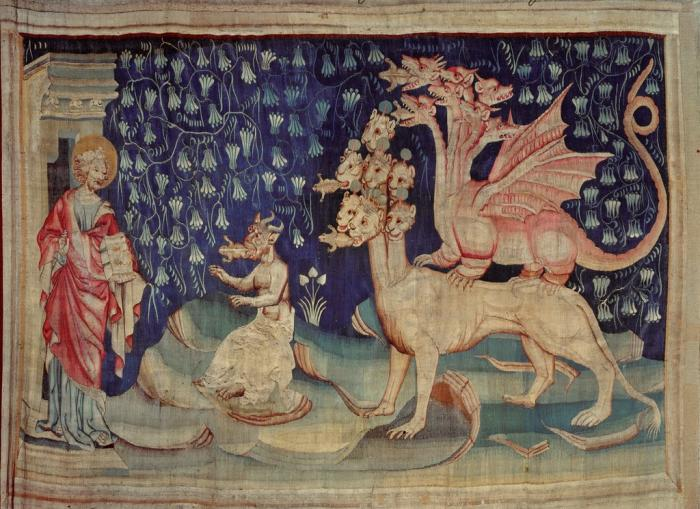 detail from the Apocalypse Tapestry (1373-1387), Nicola Bataille