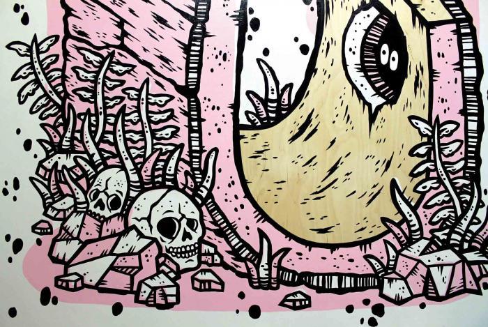 work by Michael Sieben at Visual Arts Center, UT Austin