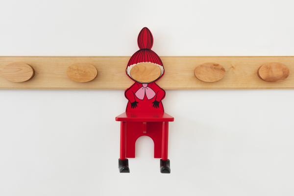 Lisa Lapinski, Visual Arts Center, pegboard with red chair sculpture