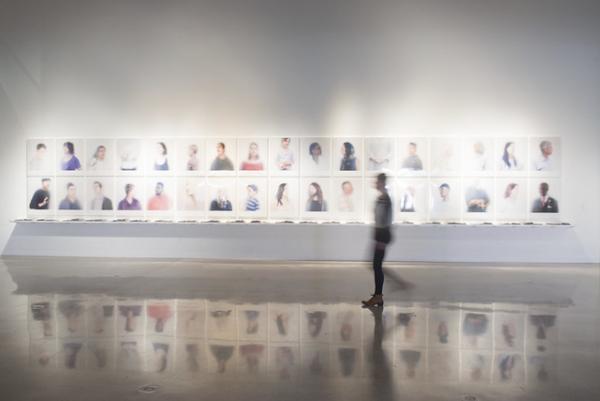 work by Ann Hamilton at Visual Arts Center, UT Austin