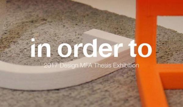 graphic for Design MFA thesis exhibition, Visual Arts Center, UT Austin