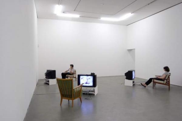installation view of Mobile Archive, Israeli Center for Digital Art
