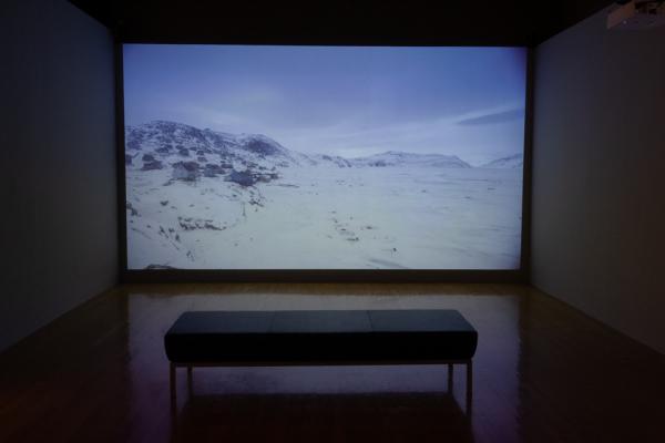 installation view of Exploring the Arctic Ocean, Visual Arts Center, UT Austin