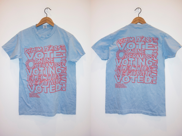 t-shirts designed by Election Reform!, Denim Tears and Online Ceramics