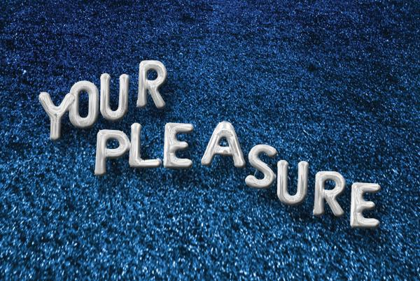 "graphic for exhibition ""Your Pleasure"" at Visual Arts Center, UT Austin"
